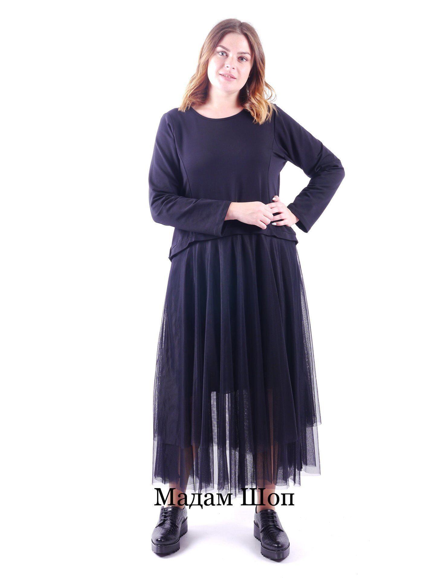 9375a1d90384575 Длинное чернее платье на подкладке и завязками на шее сзади. Имитация  сюртука на спинке,
